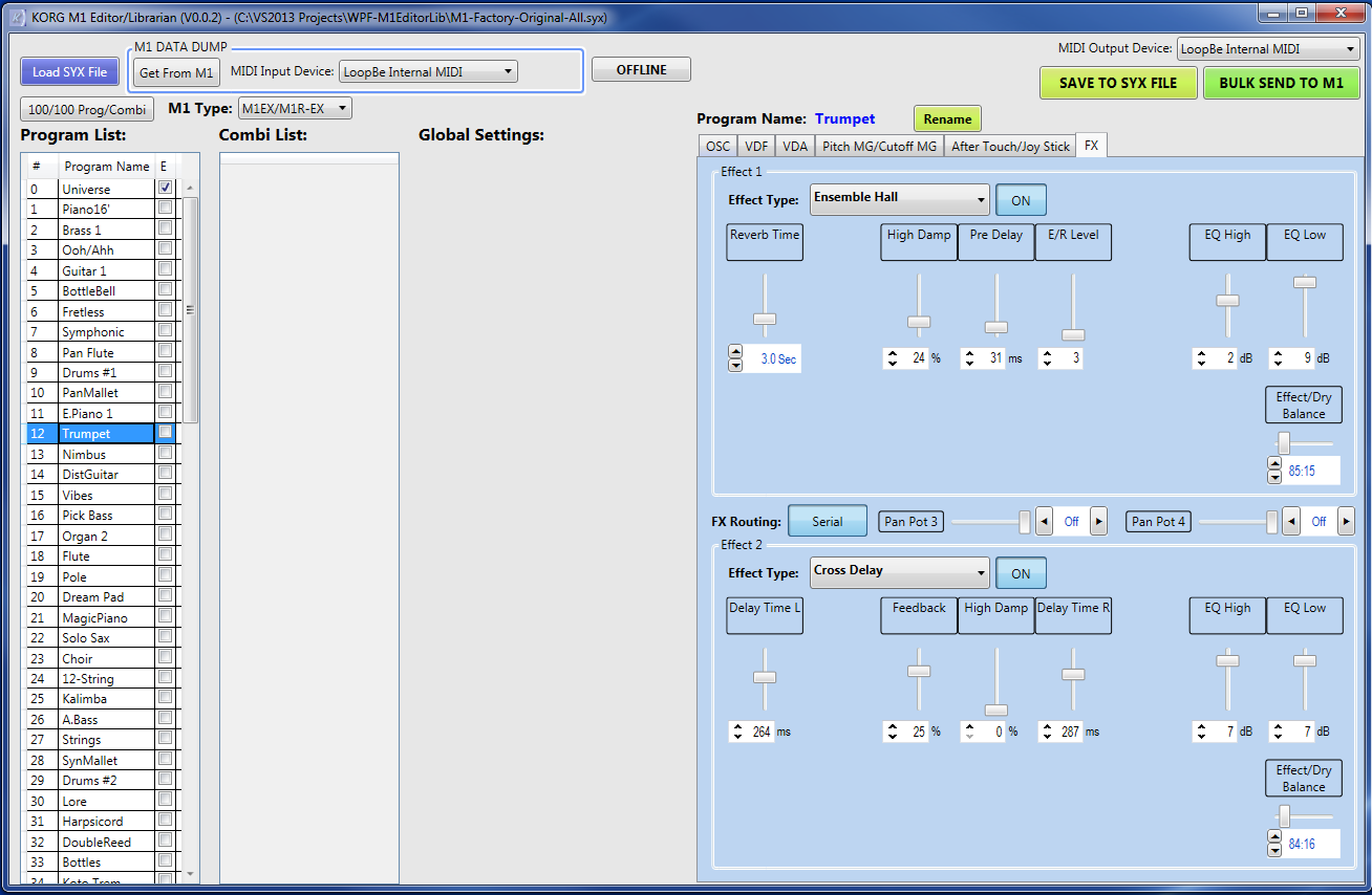 Korg Forums :: View topic - New Korg M1 Editor/Librarian Software
